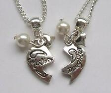 Silver Plated Family Friends Charm Costume Necklaces & Pendants