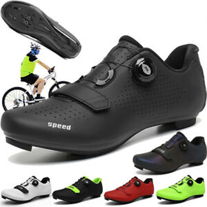 Road Cycling Footwear Men Bicycle Riding Spd Cleats Bike Shoes Flat Sneakers Mtb