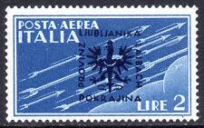 GERMANY Nazi Occupations SLOVENIA / LJUBLJANA 1944 Italy Air O/P 2L Fine MINT