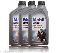Mobil Extra 2T Teilsynthetisches Motoröl für 2-Takt Motoren 3x1 liter
