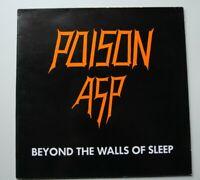 "POISON ASP - Beyond the walls of sleep 12"" Obscure Original press lyric sheet"