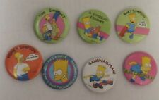 The Simpsons Set of 7 Buttons Pins (Pinbacks) Bart Homer Marge  New