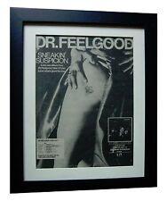 DR. FEELGOOD+Suspicion+LP+POSTER+AD+RARE ORIGINAL 1977+FRAMED+FAST GLOBAL SHIP