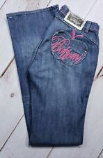 NWT Womens Apple Bottoms jeans Apple Pocket Bootcut Embroidered Sz 7/8 Inseam 34