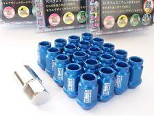BLU * d1-Spec * Heptagon Lug Nuts 40mm m12 x 1.5 Dadi Ruota Cerchi Castello
