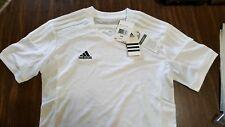 NEW Adidas White Climalite Short Sleeve Shirt Summer Sports Unisex Men's sz XS