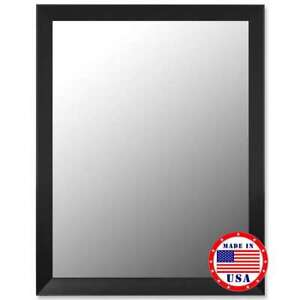 """Hitchcock Butterfield 23"""" X 59"""" Angle Iron Black Framed Wall Mirror - 332201"""