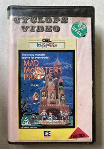 Mad Monster Party [Beta] CEL KidsPics PAL Ex-Rental Tape Family Horror!