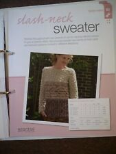 Slash-Neck Sweater Knitting Pattern from Bergere de France Magazine