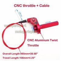 1/4 Turn CNC Twist Throttle Cable For Honda Dirt Bike CR 80 85 125 250 Motocross