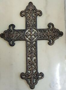 Stunning Ornate Solid Cast Iron Cross **Present with a difference**
