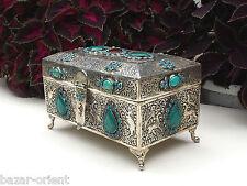 Persian kiste truhe schmuckkasten Neusilber Schatztruhe islamic trinket box NR-8