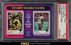 1975 O-Pee-Chee Reggie Jackson & Pete Rose '73 MVP'S #211 PSA 7 NRMT