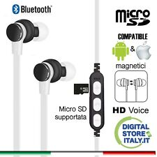 Cuffiette Auricolari bluetooth wireless cuffie sport sd iPhone Samsung Huawei B