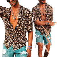 Male Tops Men Shirt Beach Tops Summer Casual Fashion Party Loose Shirt