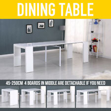 45-250CM Extending High Gloss White Dining Table Party Console Unit Stand