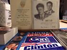 Bill Hillary Clinton Al Gore Lot Special Print with Books Stickers Magnets