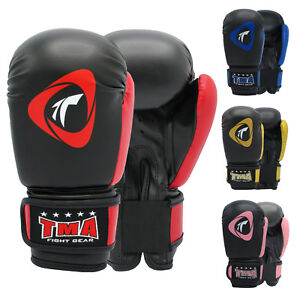 TMA 6 OZ KIDS BOXING GLOVES HIGH QUALITY LEATHER