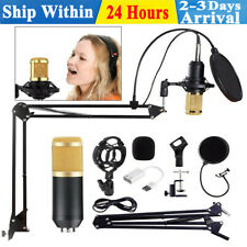 BM800 Condenser Microphone Professional Studio Vocal Recording Mic Stand Kit UK~