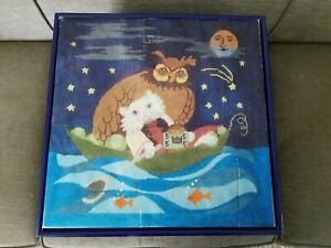 Patti Paints Handpainted Needlepoint Canvas and Painted Child's Stool