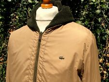 Lacoste Olive Fleece Lined Hooded Outerwear Jacket - L|XL - Ska Mod Scooter 60's