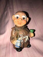 Vintage 1960's Heico West Germany Friar Monk Bobblehead Nodder Troll