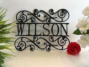 Personalized Family Last Name Metal Acrylic Sign Custom Garden Outdoor Use House
