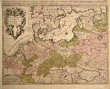 1690 ANTIQUE MAP POLAND, LITHUANIA, BELARUS, GERMANY SANSON NICOLAS RARE MAP
