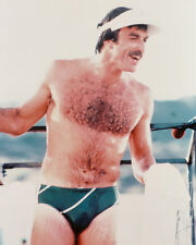 Tom Selleck In Magnum, PI Barechested In Tight Swim Shorts 16x20 Canvas Giclee