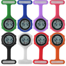 Colorful Multi-functions Digital Silicone Boxed Rubber Nurse Watch Fob Watch UK