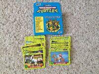 1990 Topps Teenage Mutant Hero Turtles TMNT Full 66 Card Set Original Box