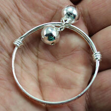 2Pcs New listing Charms Silver Baby Kids Bangle Bells Bracelet Jewellery Gifts