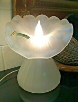 """🔷 Empoli Italy Art Glass Frosted Jack in Pulpit 12 1/2"""" Lamp w/ Orig. Sticker"""