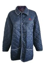 BURBERRY Vintage Blue 100% Nylon Quilted Walking Coat (M)