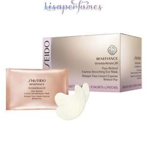 Shiseido Benefiance Wrinkle Resist 24 Express Smoothing Eye Mask 12 Packttes x 2