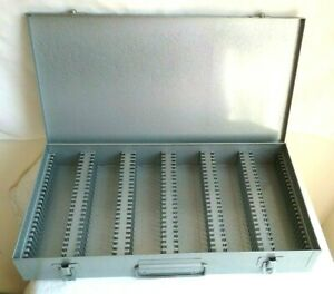 Vintage Brumberger Metal 35mm Slide Case Box Holds 150 Slides     L8C