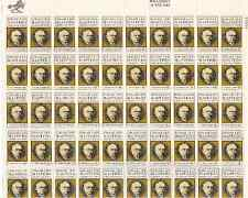Scott #1405. 6 Cent.Edgar Lee Masters. Sheet of 50