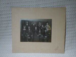 Antique Victorian Royal Navy Naval Family Group & Dog Portrait Photo Dover