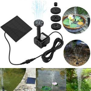 180L/H Solar Panel Powered Water Pump Garden Pool Pond Fish Aquarium Fountain