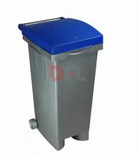 Bidone Pattumiera ICS Tata Blu 80 lt cm 38x50x80 H immondizia spazzatura