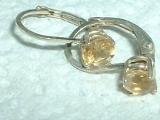 GENUINE NATURAL CITRINE EARRINGS ~LEVER BACK~ FINE QUALITY 925 STAMPED