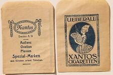 19744 2 Paper Advertising Bags Xantos Cigarette Dresden Smoking Woman UM 1935