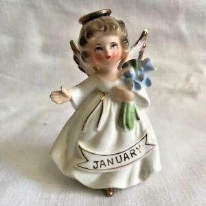 Vintage Enesco January Birthday Angel Figurine