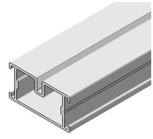 Aluminium Unterkonstruktion für Terrasse Alu-Schiene 23x45x1950mm 20 Stück