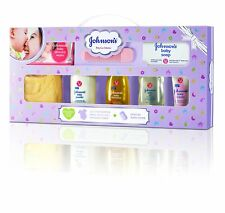 Johnson's Baby Care Collection Gift Set With Organic Cotton Baby Romper RG
