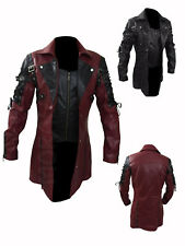 MATRIX TRENCH COAT, Red Black Leather Jacket, Gothic Van Helsing