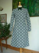 "Cute Vintage 1960's Norman Linton London W1 Lurex Mod Dress Waist 33"""