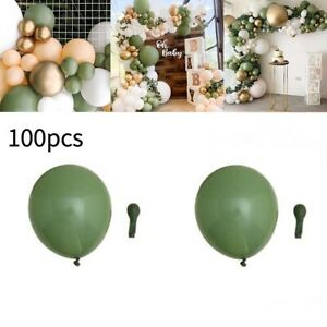 100Pcs Green Balloons Olive Birthday Party Eucalyptus Sage Party Latex Balloon