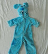 Boys NEW in Bag Blue's Clues Blue Play Pretend Costume 3 mo to 12 Mo Thick Push