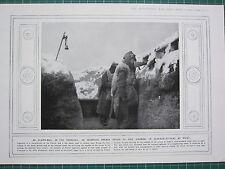 1915 Prima Guerra Mondiale WW1 Stampa ~ Francese Device A Danno Avvertenza Di